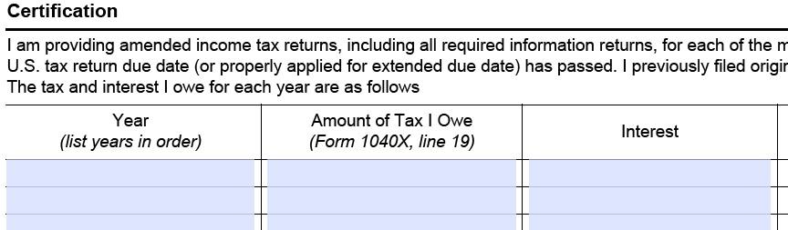 Form 14654 Form 14653 Interest Calculator